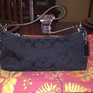 Coach black bag used once excellent condition